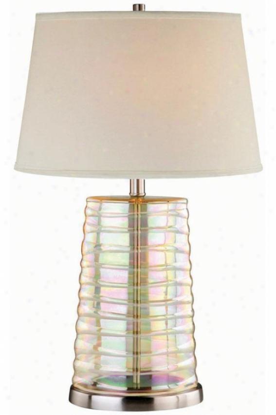 """iridescence Table Lamp - 16""""x25.75"""", Iridescent"""