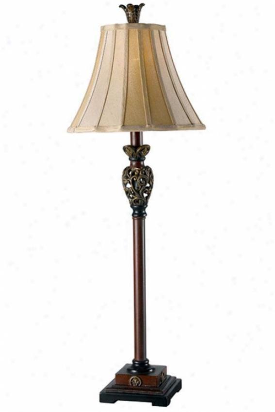 Iron Lace Buffet Lamp - Light Gold, Golden Ruby