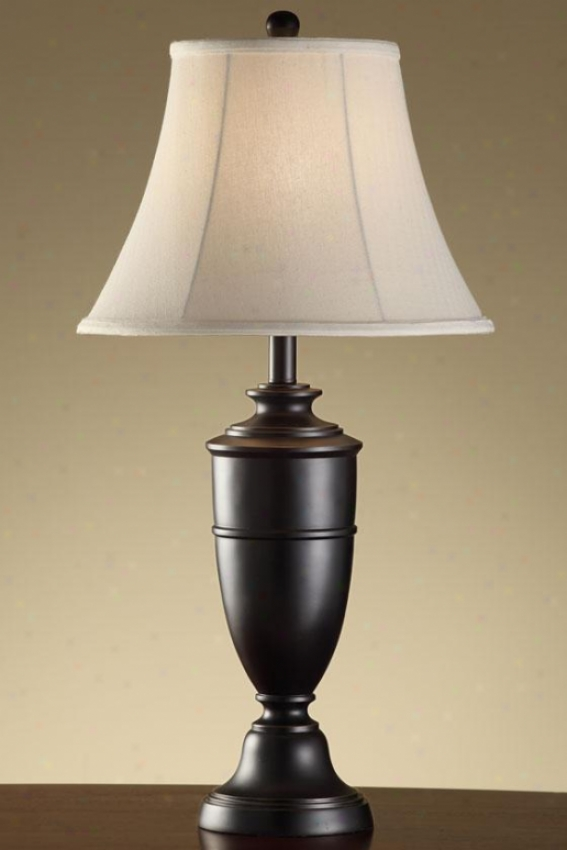 """jace Metal Table Lamp In Madison Bronze Finish - 29.5""""h, Madison Brown"""