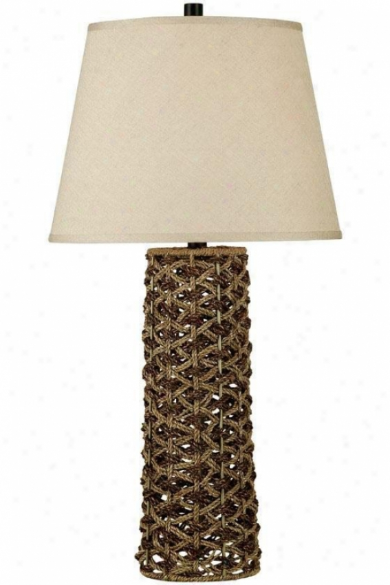 """jakarta Table Lamp - 30""""h, Light/dark Rope"""