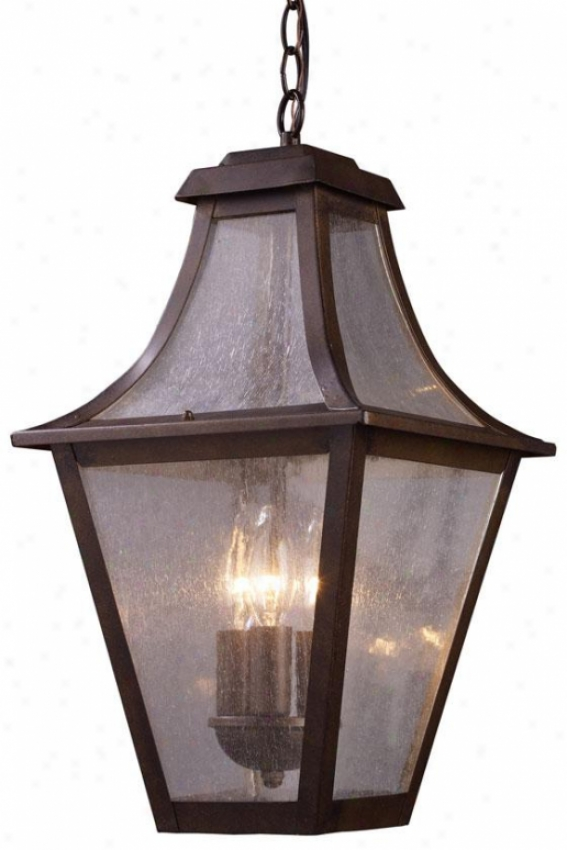 Jefferson Outdoor Pendant - 3-light, Coffee Bronze