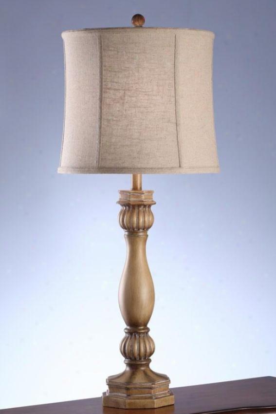 """jill Tahle Lamp In Sunshine Bleached Taupe - 36""""h, Sun Blchd Taupe"""