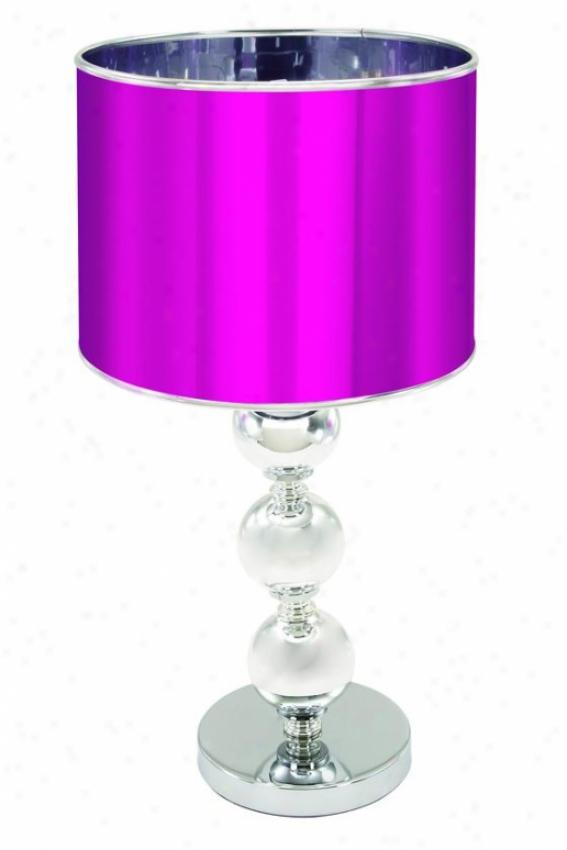 """""""jyoti Table Lamp - 20""""""""hx10""""""""diametr, Silvery"""""""
