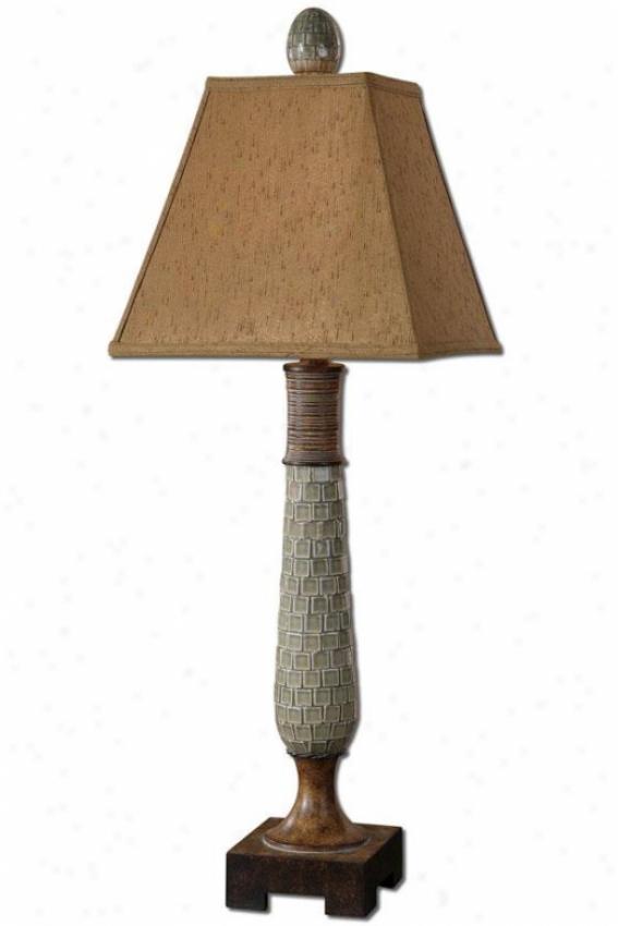 """kayson Buffet Lamp - 36.5""""h, Azure"""