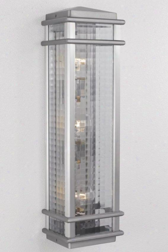 """keene Outdoor Wall Lantern - 26""""h X 7""""w, Brshed Aluminum"""