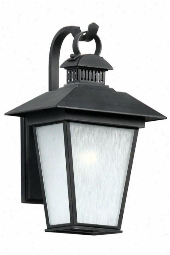 Kent Medium Outdoor Wall Lantern - Medium, Black