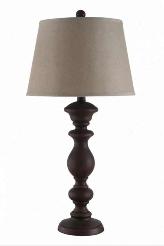 """kenzie Table Lamp - 16""""wx16""""dx33""""h, Distressed Wood"""