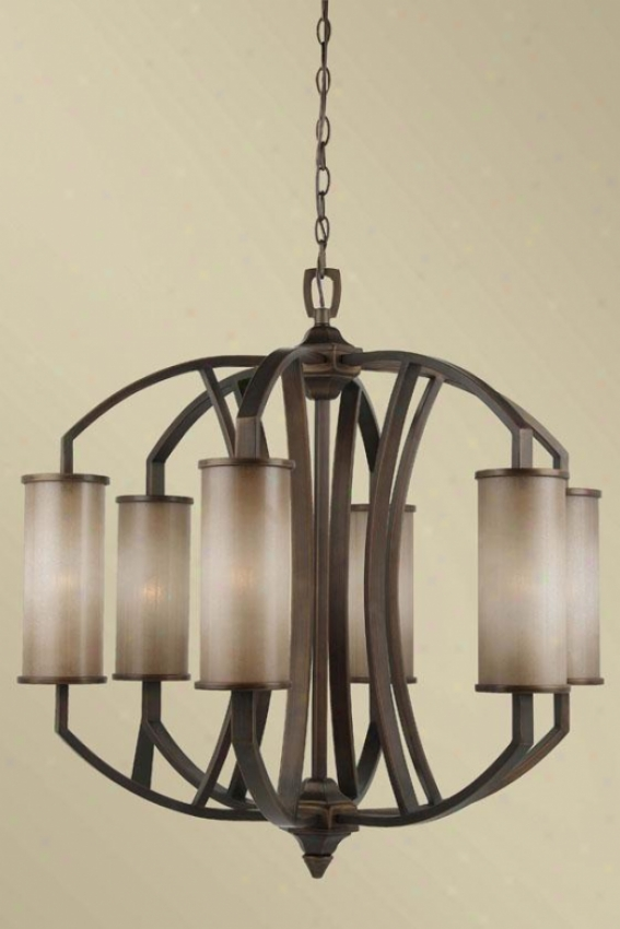 Kimberly Chandelier - Six Light, Beige
