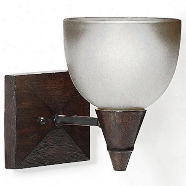 Kyoto 1-light Vanity Light - One-light, Tan Wood