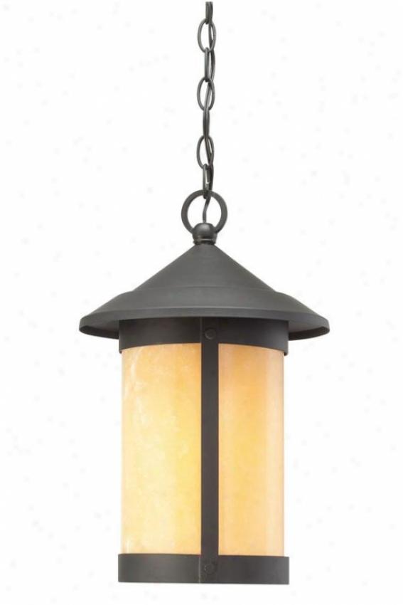 """""""landon Outdoor Hanging Lantern - 17""""""""h, Black"""""""