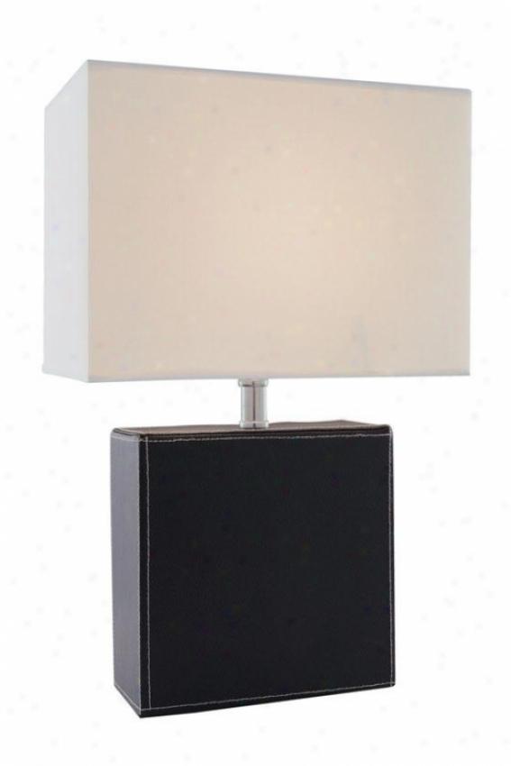 """leandra Table Lamp - 16.25h X 11""""w, Black"""