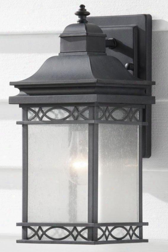 """leighton Outdoor Wall Lantern - 13.5""""h X 6""""w, Fog"""