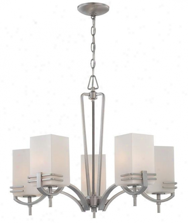 Logan Chandelier - Five Light, Stainless