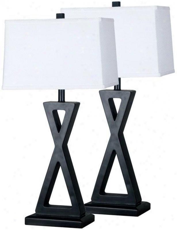 """lovan Table Lamp - 2-pack - 3l""""hx15""""d, Oil Rubbed Bronze"""