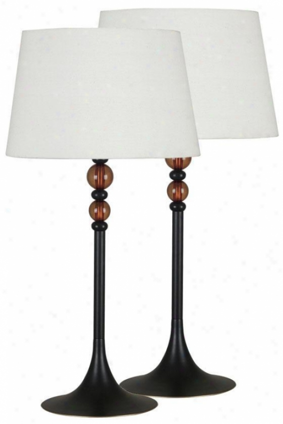 """luella Table Lamps - 2-pack - 30""""hx15""""d, Oil Rubbed Bronze"""
