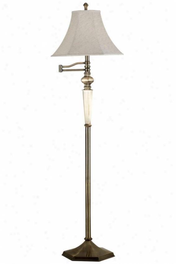 """mackinley Swing-arm Floor Lamp - 60""""hz15""""d, Georgetown Brnz"""