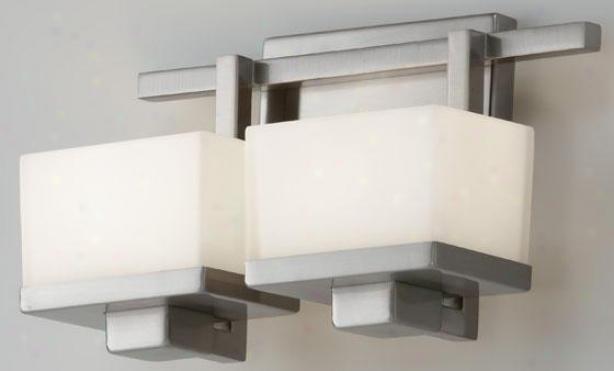 Malizia Vanity Fixture - Two Light, Armor Gray Nickel