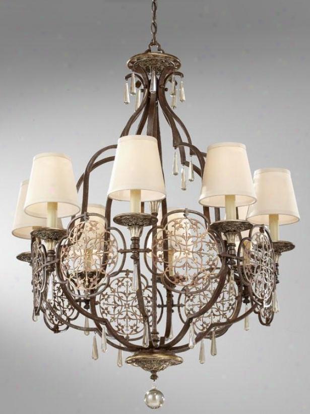 Marabelle Chandelier - Eight Light, Brit Bronze