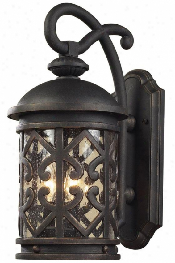 """marina 22""""h Outdoor Sconce - 3-light, Weathrd Chrcoal"""