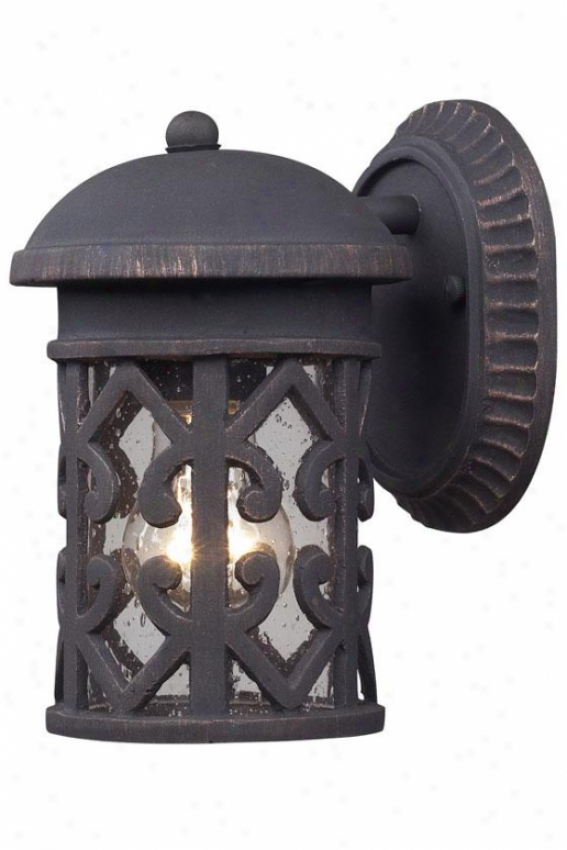 Marina Exterior Sconce - 1-light, Weathrd Chrcoal