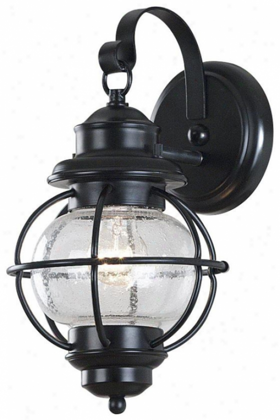 Maritime Outdoor Wall Lantern - Small, Black