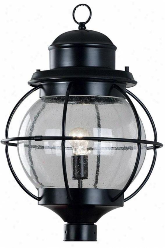 Maritime Post Lantern - 1-light, Black
