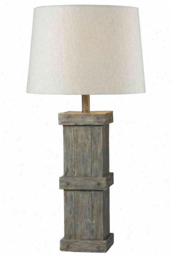 """""""martin Table Lamp - 31""""""""h, Wood Grain"""""""
