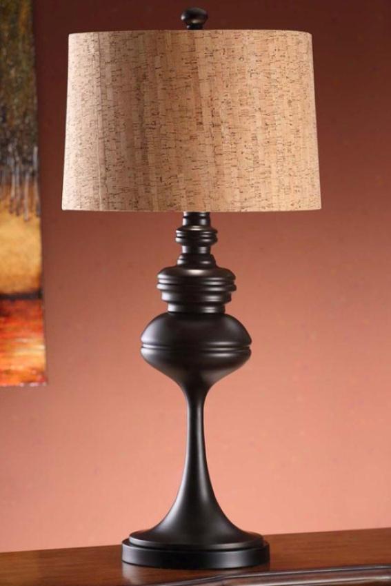 """""""mason Table Lamp In Coffee Finish - 32.5""""""""h, Coffee Brown"""""""