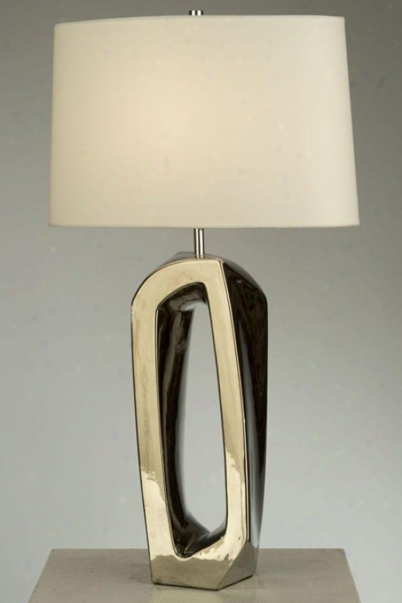 """matrimony Standing Table Lamp - 28""""hx16""""wx9""""d, Silver Chrome"""