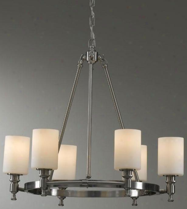 Mckinley Chandelier - Six Light, Grey Steel