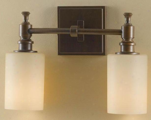 Mckinley Wall Fixture - Two Light, Heritwge Bronze