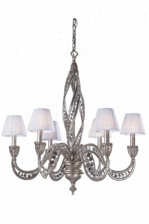 Medici 6-light Chandelier - 6-light, Sunset Silver