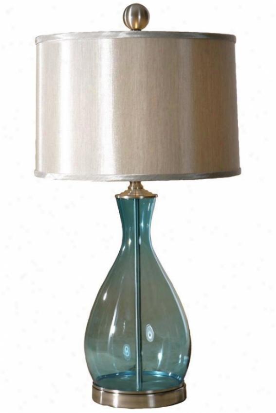 """meena Table Lamp - 29""""hx15""""dia, Blue"""