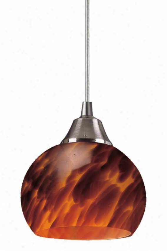"""mela 1-light Hanging appendage - 6""""x6"""", Coffee Brown"""