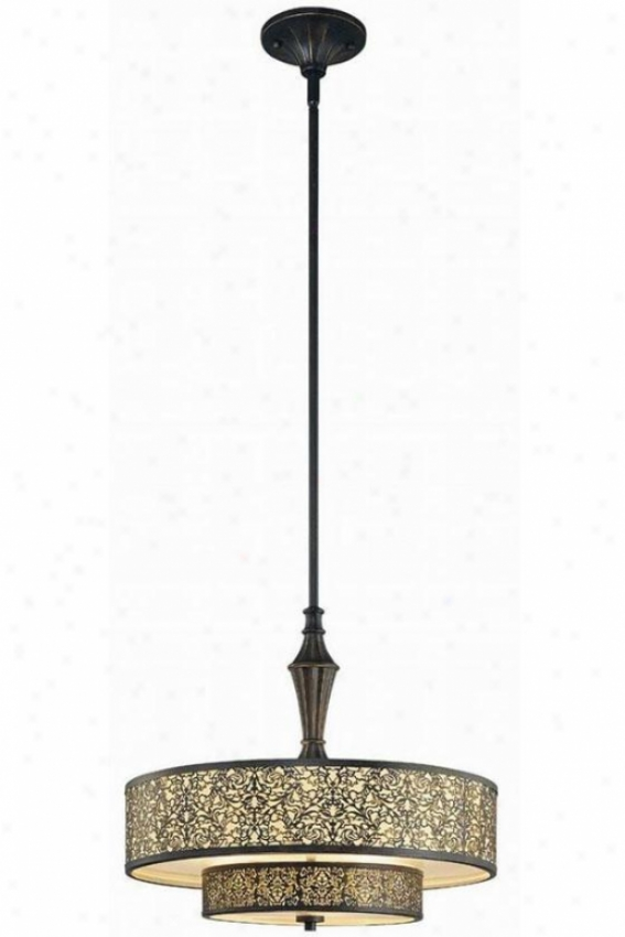 Melosa Pendant - Three Light, Bronze
