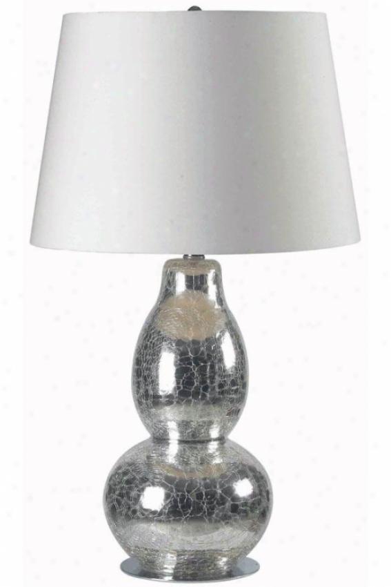 """mercurio Table Lamp - 28""""hx15""""w, Chrm Crckld Gls"""