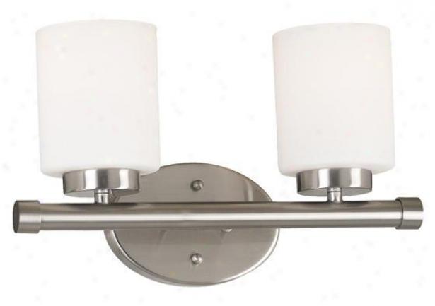 Mezzanine 2-light Vanity Light - Two-light, Grey Steel