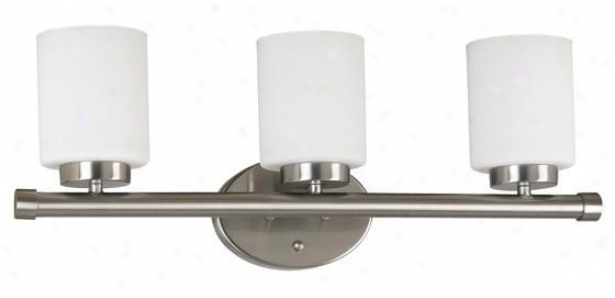 Mezzanine 3-light Vanity Light - Three-light, Grey Steel
