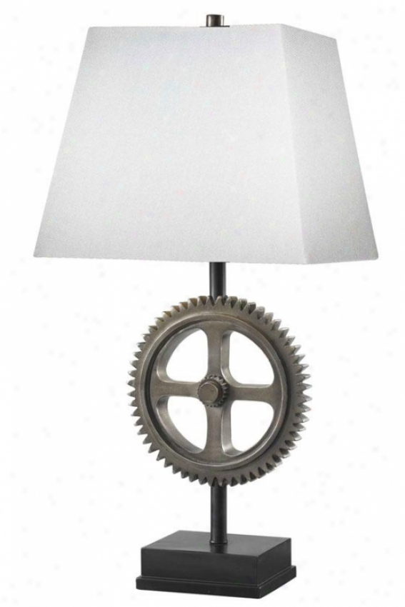 """movement Table Lamp - 30""""h X 14""""w, Weathered Steel"""