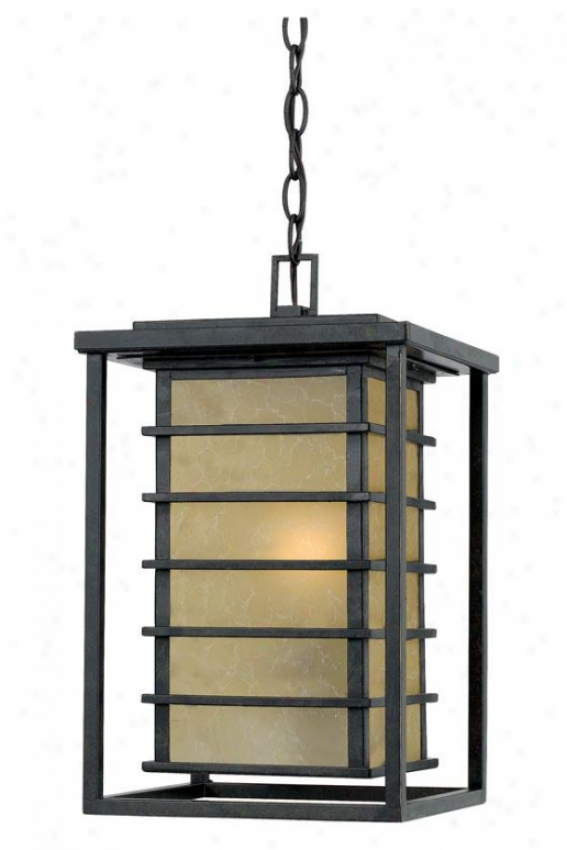 """nathaniel Outdoor Hanging Lantern - 16.5""""h, Gold Bronze"""