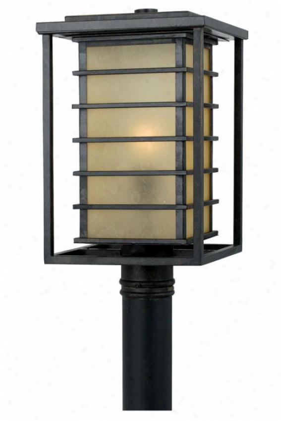 """""""nathaniel Outdoor Post Lantern - 16.5""""""""h, Gold Bronze"""""""