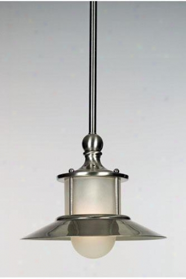 """""""nautical Piccolo Pendant - 47.5""""""""hx9.5""""""""d, Silve5 Nickel"""""""