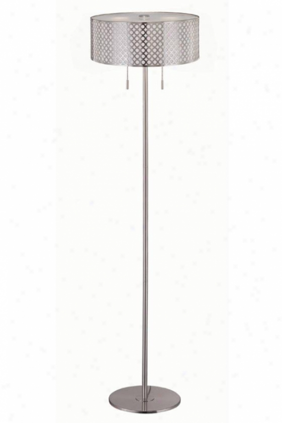 """netto Floor Lamp - 59.5h X 16""""w, Silver"""