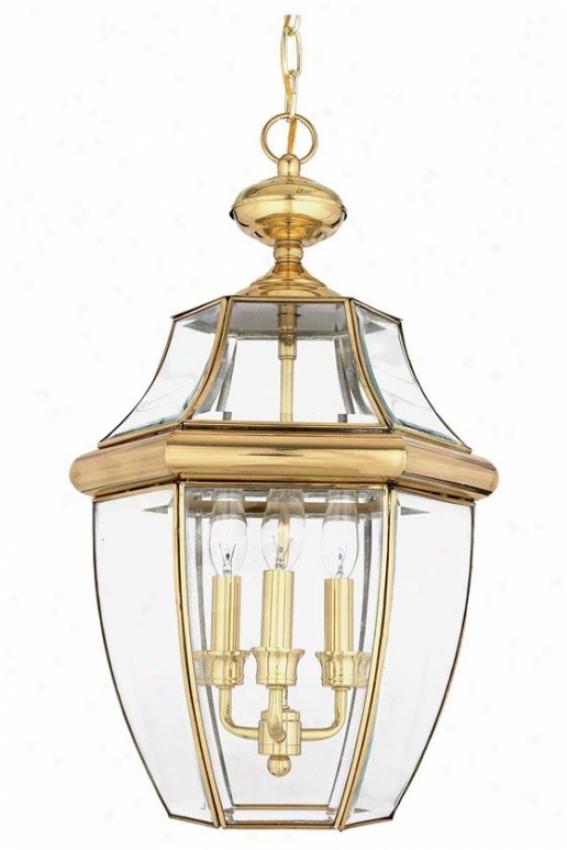 Newbury 3-light Outdoo rHanging Lantern - 3-light, Copper Brass