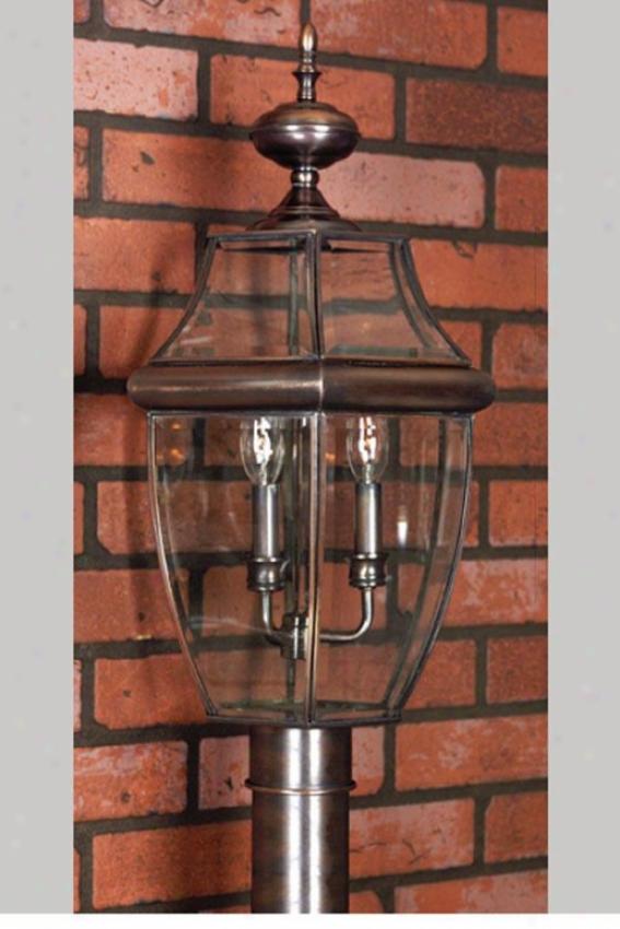 Newbury 3-light Outdoor Post Lantern - 3-light, Copper Copper