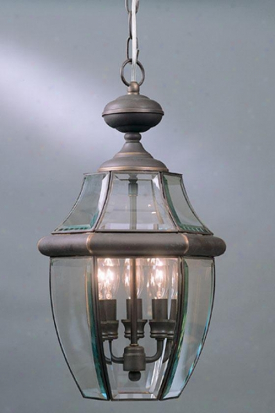 """newbury 4-light 26.5""""h Outdoor Hanging Lantern - 4-light, Bronze"""
