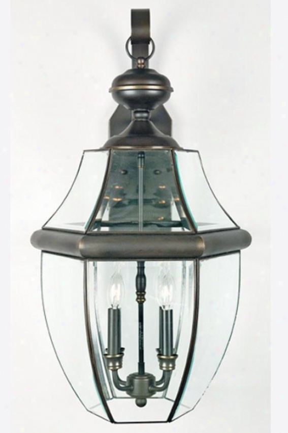 """newbury 4-light 29""""h Outdoor Hanging Lantern - 4-light/exlarge, Bronze"""