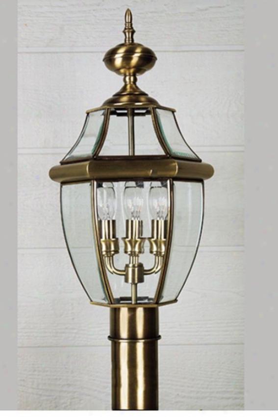Newbury 4-light Outdoor Post Lantern - 4-light, Copper Btass