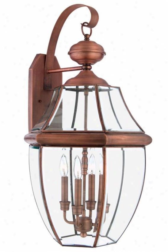 Newbury 4-light Outdoor Wall Lantern - Xlaarge/4-light, Copper Copper