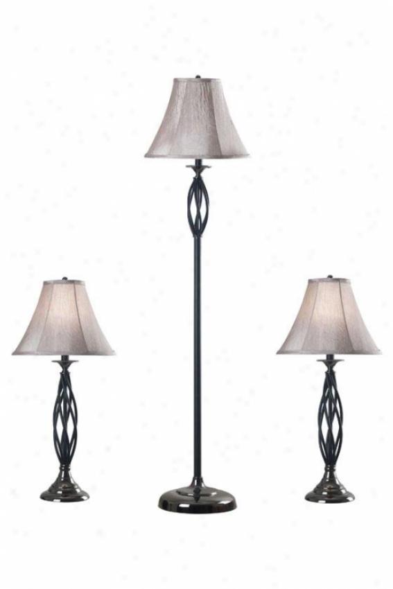 Nolan Lamps - Set Of 3 - Set/3, Brohze